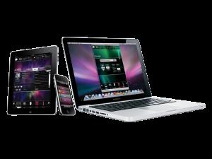 iPad, iPhone, MacBook Pro