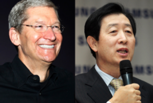 Tim Cook and Choi Gee-Sung